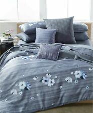 NEW RARE CALVIN KLEIN BONAIRE 2 KING SHAM SET BLUE PANSY VIOLETS BOUQUET FLOWER