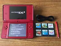 Nintendo DSi XL Super Mario 25th Anniversary Console Bundle +6 Games & Charger