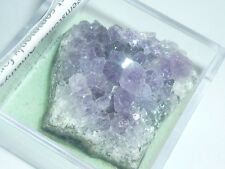 cristalloterapia DRUSA AMETISTA + BOX LENTE minerale grezzo cristallo quarzo bio