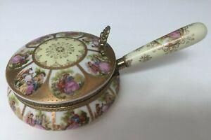 Vintage Arnart Imports Porcelain Silent Butler/Crumb Catcher/Ashtray with Lid