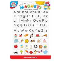 Niños Aprendizaje Magnético Educativo Letras y Imágenes Frigorífico Imanes