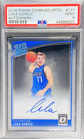 Luka Doncic 2018-19 Donruss Optic Rated Rookie ON CARD AUTO PSA 9 MINT