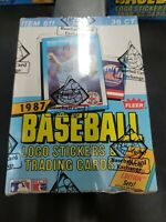 1987 FLEER BASEBALL SEALED BBCE BOX Bonds McGwire Bo Jackson RC PSA 10 HUNTING B