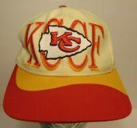 Old Vintage 1990s KANSAS CITY CHIEFS KCCF EASTPORT NFL Football Snapback Hat Cap