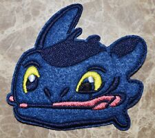 Blue How to train your dragon embroidered applique iron on patch motif