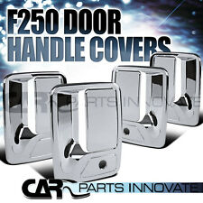 99-15 F250/F350/F450/F550 Super Duty 4Dr Chrome Door Handle Covers w/ Key Holes