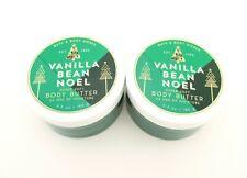 Bath Body Works 2 Vanilla Bean Noel Body Butter Lotion 6.5oz Shea & Coconut Oil