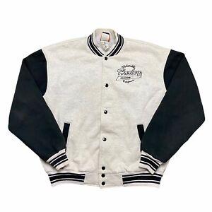 VTG 90's Harley Davidson Gray California Men's Snap Button Bomber Jacket XXL USA