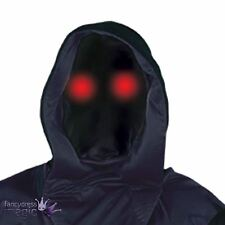 Phantom Black Hood With Light-Up Eyes Halloween Horror Fancy Dress Hooded Mask