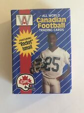 1991 ALL WORLD CANADIAN FOOTBALL CARDS - FACTORY SEALED 110 CARD SET - CFL