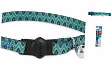 "New listing Aspen Pet Breakaway Fashion Collar 3/8"" x 8-12"" Sub Geo Blue"