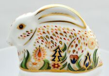 ROYAL CROWN DERBY BABY ROWSLEY RABBIT EXCLUSIVE, LIMITED, RETIRED PAPERWEIGHT