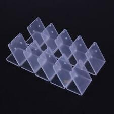 10pcs Clear Acrylic Earring Jewelry Showcase Display Rack Stand Organizer Holder