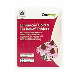 Echinacea Cold & Flu Relief Tablets | Health Boost Immune System | UK Pharmacy
