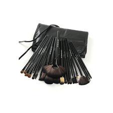24 Piece Jet Black Make Up Brush Set