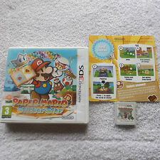 PAPER MARIO STICKER STAR NINTENDO 3DS RPG V.G.C. FAST POST COMPLETE