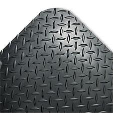 Crown Industrial Deck Plate Anti-Fatigue Mat Vinyl 24 x 36 Black CD0023DB