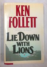 Lie Down with Lions Ken Follet 1st Ed. Hardcover w Dust Jacket Novel Book 1986