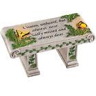 Solar Garden Memorial Stone Bench with Sentiment