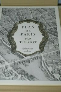 Plan de Paris par Turgot. Exacte réplique de l'original de 1735