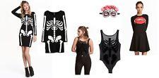 H&M Mascarada Halloween Esqueleto Día de los muertos Bruja Disfraz Elaborado Vestido