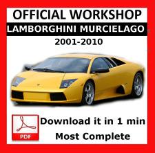 >> OFFICIAL WORKSHOP Manual Service Repair Lamborghini Murcielago 2001 - 2010