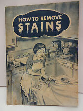 "MCM 1950s ""How to Remove Stains"" Good Reading Rack Service Booklet 1956"