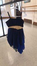 Blue Lyrical Dance Costume, adult small