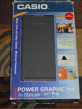 Vintage Casio Power Graphic Plus Fx-7700Gbw Scientific Calculator