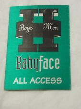 "BOYZ II MEN BABY FACE ALL ACCESS PASS linen unused 3.25"" x 4.75"""