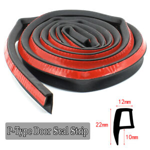 Car Door Boot Edge Protectors Strip Trim P Shapes Guard Seal Rubber Sealing 2m