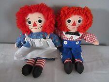 """Vintage 1987 Playskool 12"""" Raggedy Ann & Andy Dolls #70101"""