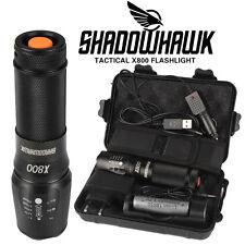 8000lm Linterna táctica genuina Shadowhawk X800 LED Zoomable antorcha Flashlight