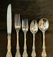 GORHAM KING EDWARD  STERLING   4 SETTINGS 20 PIECES PER WITH CREAM SOUP