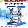 "4"" x 4"" Lab Lift Lifting Platform Aluminum Stand Rack Scissor Jack Bench Lifter"