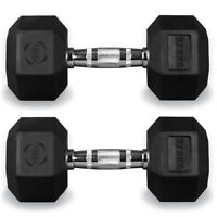 Hex Dumbbells Hexagonal Rubber Encased Ergo Weights Sets Gym Set Fitness Weight