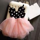 Niña Bebé Vestido Princesa Minnie Mouse Cartoon Falda Verano 0-5T Infantil Ropa