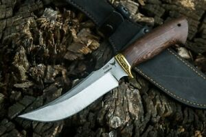 """Russia Hunting Knife """"Solomon"""" Forged Stainless Steel Wenge Brass Handmade"""