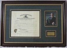 William H. Taft - Document Signed as President; DS, Framed, Autograph