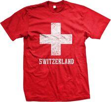 Switzerland White Cross Swiss die Schweiz Suisse Svizzera Svizra Mens T-shirt