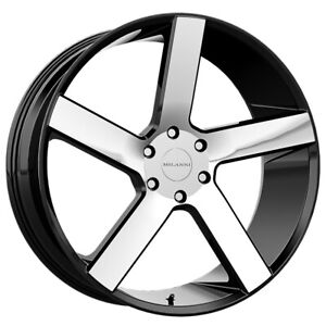 "Milanni 472 Switchback 20x9 5x120 +30mm Black/Machined Wheel Rim 20"" Inch"