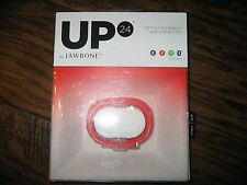 Brand New Sealed UP 24 by Jawbone Activity Tracker Persimmon - Small (5.5-6in)