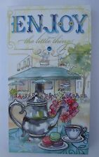 g Enjoy the Little things teapot LARGE PURSE POCKET NOTE PAD Punch Studios