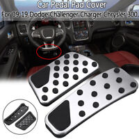 Car Gas + Brake Pedal Pad Cover For 09-19 Dodge Challenger Charger Chrysler 300