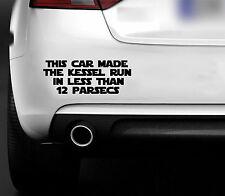 STAR Wars questa vettura ha Kessel Run DIVERTENTE AUTO sticker-bumper CARROZZERIA Windows