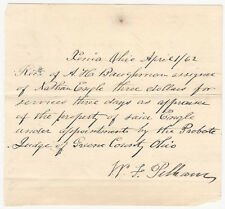 1862 Xenia Ohio Greene County -Property Appraisal Receipt - Probate Engle Estate