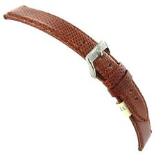 20mm Morellato Italy Genuine Certified Lizard Tan Brown Stitched Watch Band 718A
