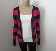 Hollister Womens Striped Cardigan Size XS Sweater Pink & Navy