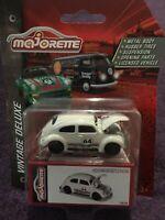Majorette VW Beetle Racing #64 Beige Vintage Deluxe Scale 1:64