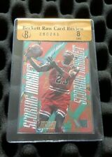 Michael Jordan 95-96 Fleer Metal Scoring Magnets BGS 8 NrMt. RARE 90s Insert RCR